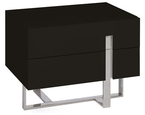 table de chevet moderne noir laqu 233 et acier dezina