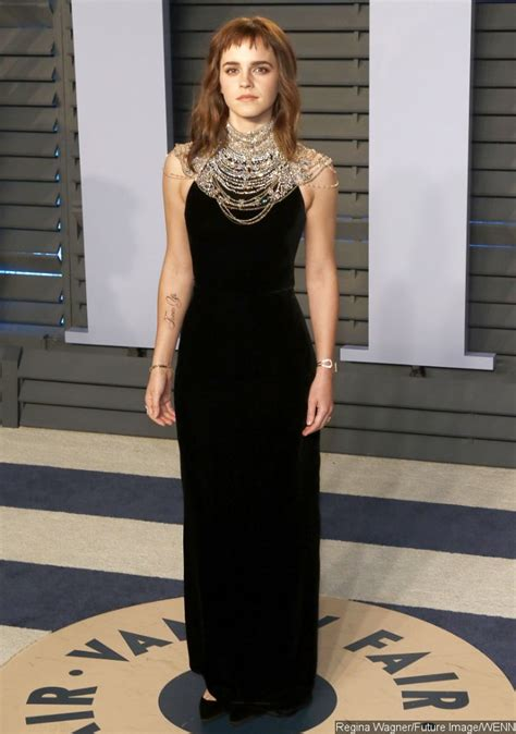 Emma Watson Debuts Time Tattoo Oscars Afterparty