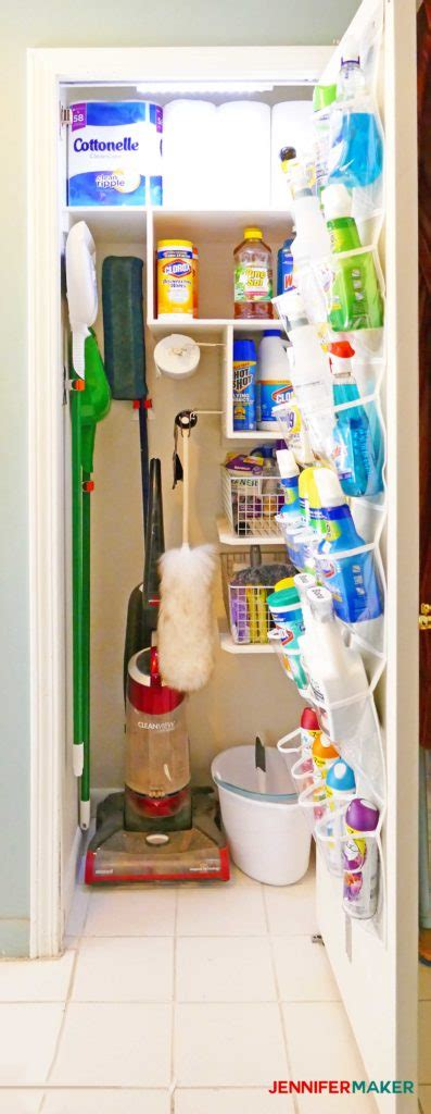 Cleaning Closet Ideas by Cleaning Closet Organization And Tips Maker