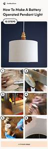 Battery Operated Pendant Light  You Can Make This Without