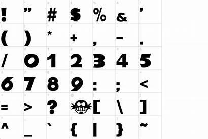 Font Characters Urbanfonts