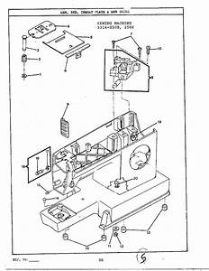 Singer Model 2502 Mechanical Sewing Machines Genuine Parts