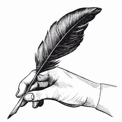 Quill Pen Clipart Writing Drawings Hands Cliparts