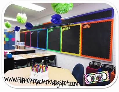 Classroom Bulletin Decor Board Rainbow Flip Teaching