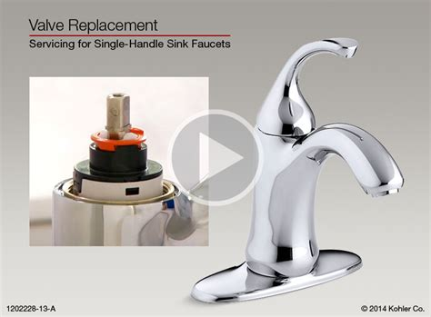 Kohler Bathroom Sink Faucet Cartridge Replacement by Valve Replacement For Single Handle
