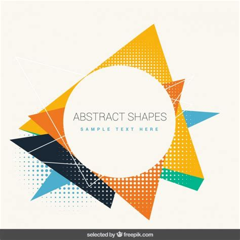 Abstract Shapes Shape Vector Png by Abstract Colorful Shapes Vector Free