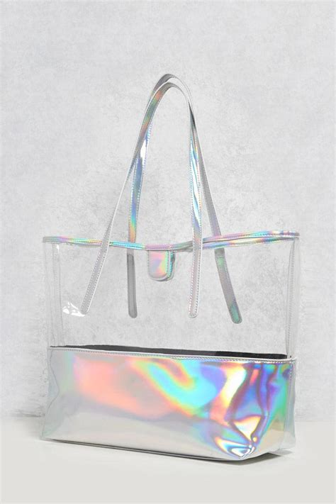 lyst   iridescent clear tote bag