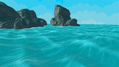 Water Ocean Medium Rough Seas Shader Rocks