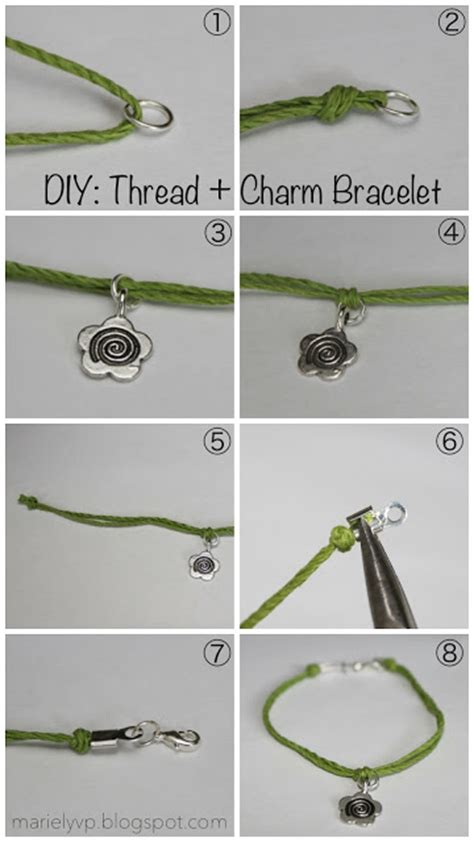 read diy for s we read diy thread charm bracelets We
