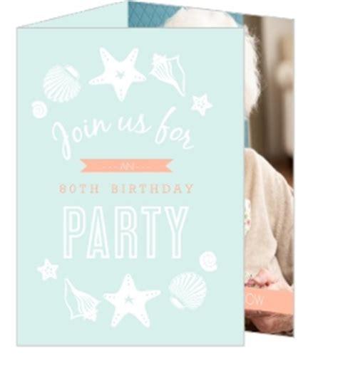 80th Birthday Party Invitations Purple Trail
