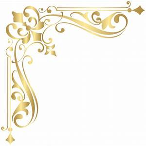 Corner Gold PNG Clipart Image | Gallery Yopriceville ...