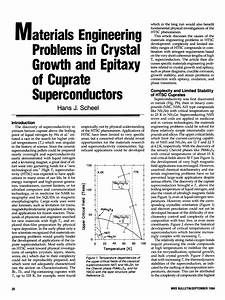 Pdf  Problems In Epitaxial Growth Of High