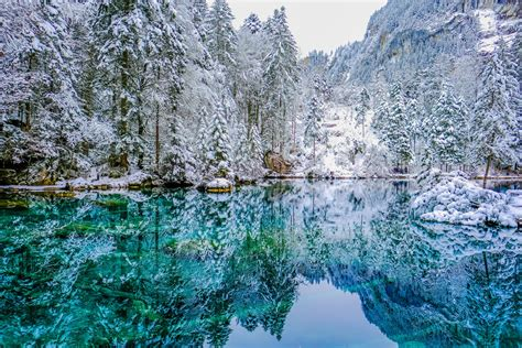 See why Lake Blausee is stunning during all seasons