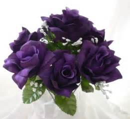Purple Rose Wedding Flowers