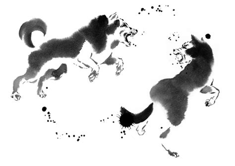 Sumi-e Painting Gallery With Animals Painted By Cyril Blondeau
