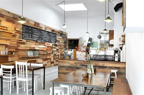 contemporary cafe designs starring recycled timber