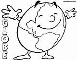 Globe Coloring Pages Print Globe1 sketch template