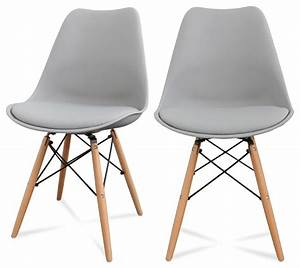 lot de 2 chaises design ormond dsw couleur gris With chaises de salle à manger design