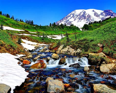 Wallpaper River, Mountain, Stones, Landscape Free For Your