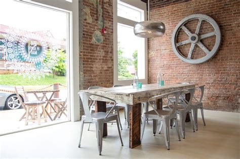 farm table with metal chairs farm table new house furnishings pinterest