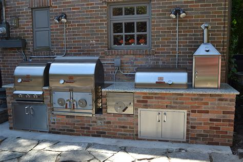 outdoor kitchen designs with smoker outdoor kitchens pitts and spitts smokers and grills 7238