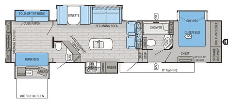 2015 Fifth Wheel Bunkhouse Floor Plans by 2015 Eagle Premier Floorplans Prices Jayco Inc