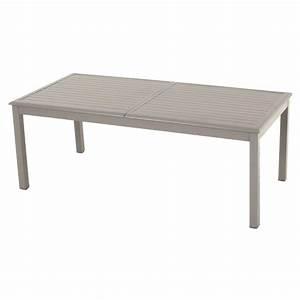 Table Aluminium Extensible : table de jardin extensible aluminium azua max 300 cm taupe table de jardin eminza ~ Teatrodelosmanantiales.com Idées de Décoration