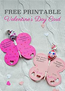 Free Printable Butterfly Valentine U0026 39 S Day Card