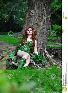 Young Beautiful Red-haired Girl In The Image Of The Comic ...