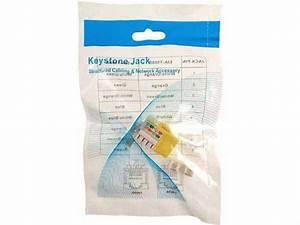 Cat5e Rj45 Modular Keystone Jack  110 Style  Yellow
