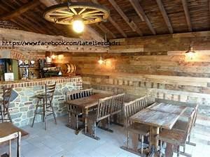 bar decoration murale avec les palettes en bois pallet With procede de decoration murale