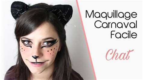 maquillage carnaval facile quot chat quot