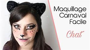 Modele Maquillage Carnaval Facile : maquillage carnaval facile chat youtube ~ Melissatoandfro.com Idées de Décoration