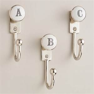 monogram letter hooks world market With letter initial hooks