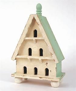 White, U0026, Green, Wood, Bird, House