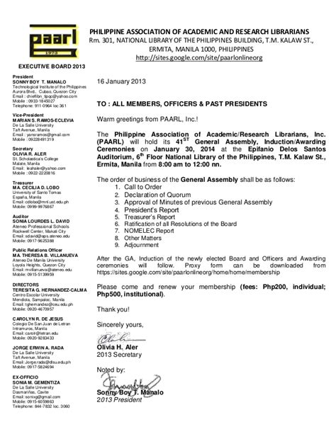 notice for 41st general assembly