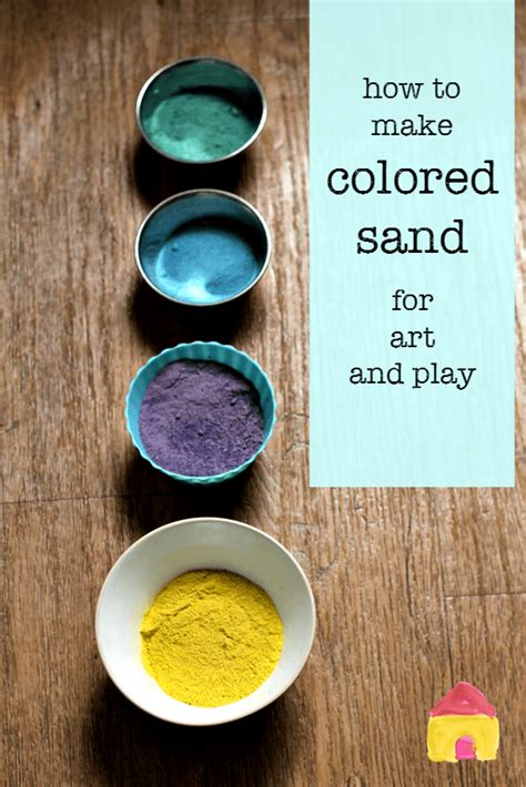 How To Make Coloured Sand  Nurturestore