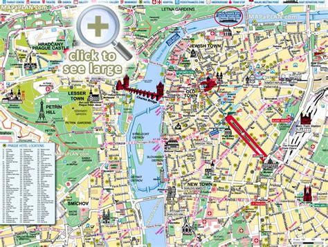 prague maps top tourist attractions  printable
