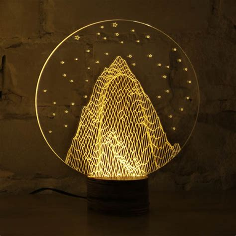 bulbing optical illusion  led lamp    design swan