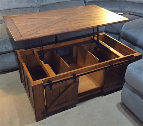 wood desk with metal legs magnussen farm lift top coffee table harris