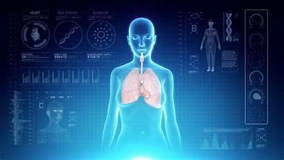 Respiratory Human Anatomy Female Aging Futuristic System