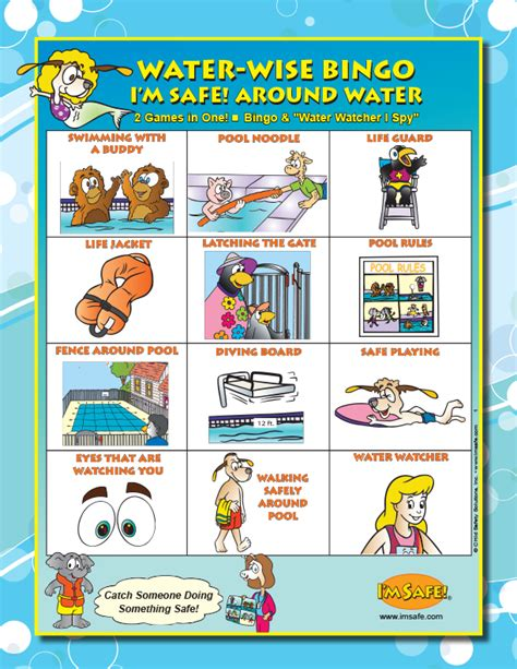 7 1300 water safety teaching kit for pre k k i m safe 863 | Pre K K Water Bingo Game English Spanish
