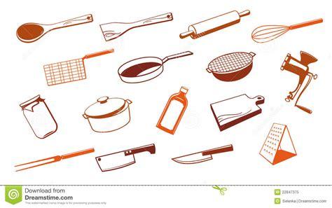 outils de cuisine outil d 39 ustensile de cuisine illustration de vecteur