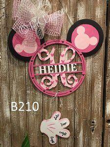 monogram minnie mouse door hanger disney hospital door hanger mickey hand birth