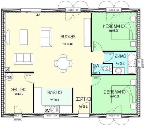plan maison 2 chambres plans maisons plain pied 2 chambres maison moderne