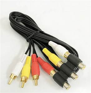3 Rca Male To 3 Rca Female Audio Video Extension Cable