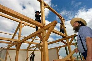 Amish builder brings traditional craft to hurricane for Amish house builders