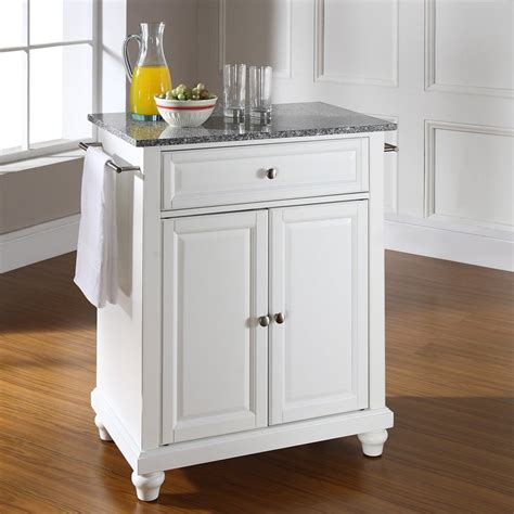 kitchen island cart with granite top crosley cambridge solid granite top portable kitchen 9393