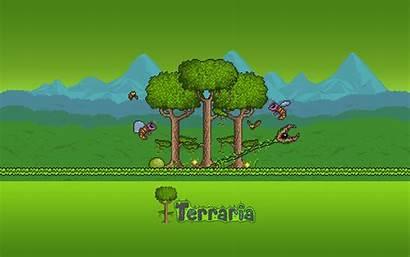 Terraria Jungle Biome Fan Backgrounds Pillars Landscape