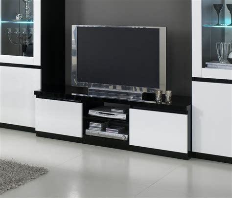 meuble tv design laqu 233 blanc noir krista meuble tv laqu 233
